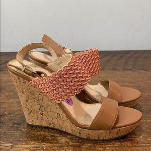 Jessica Simpson Jellia Wedge Heel Sandals Sz 8.5